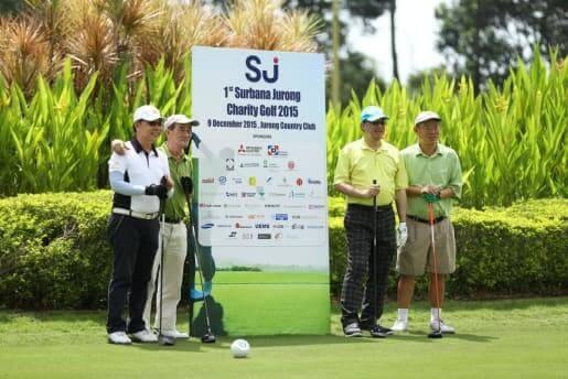 elderly persons charity golf event support elderly yellow ribbon CSR