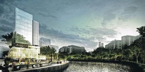 Singapore urban landscape - Robertson Quay hotel