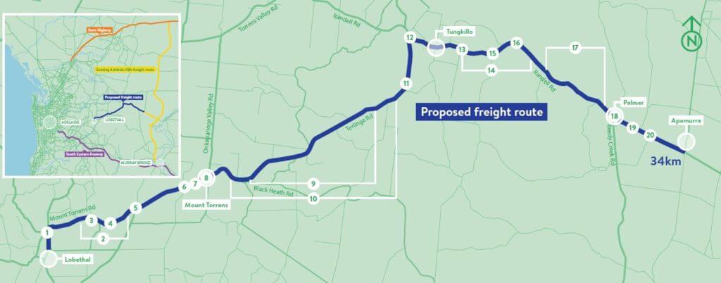 Adelaide freight route engineering design Australia
