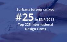Surbana Jurong is #25 on ENR 2018 Top 225 International Design Firms list!